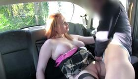 Sexy sluttish whore sucks on his huge knob