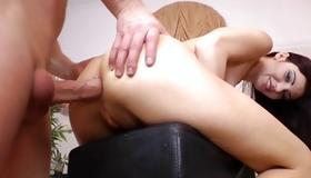 Marvelous hottie is screaming while poked