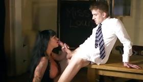 Adorably hot bitch is drilled with huge dick