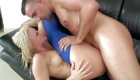 Naughty blonde whore drilled hardcore