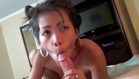 Filthy asian whore is drilled nasty on free porn